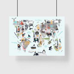 plakat z motywem zwierząt