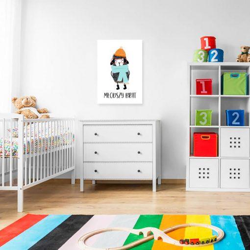 plakat z motywem owieczki i napisem do pokoju dziecka