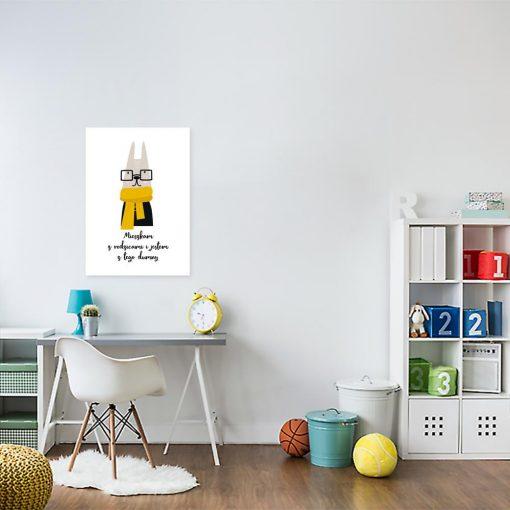 plakat z motywem królika na ścianę pokoju dziecka