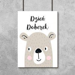 plakat z niedźwiadkiem