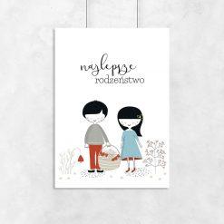 plakat z napisem najlepsze rodzeństwo