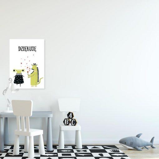 plakat z uroczymi potworkami do pokoju dziecka