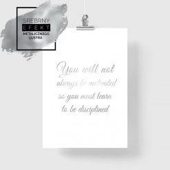 plakat z motywacyjnymi napisami