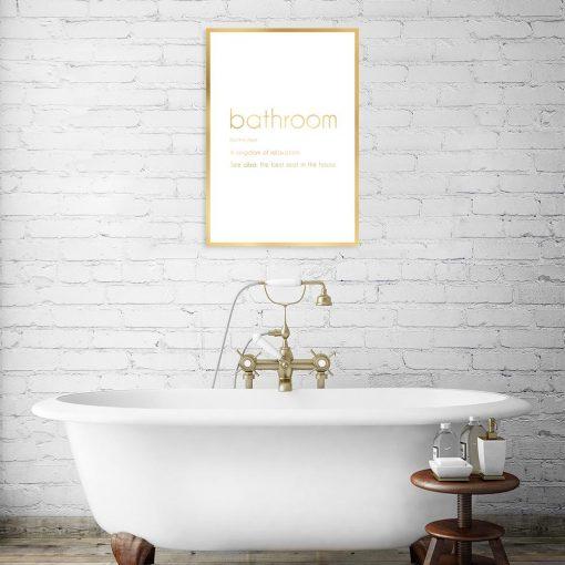 plakat pozłacany łazienka