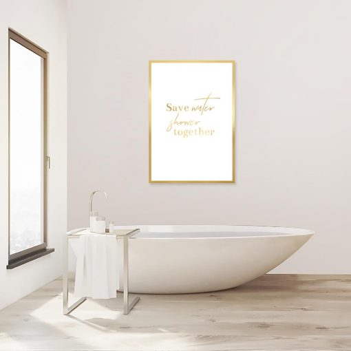 pozłacany plakat shower together