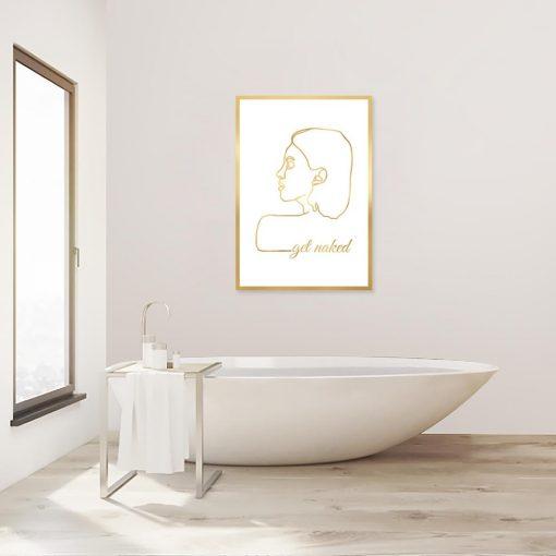 pozłacany plakat do łazienki