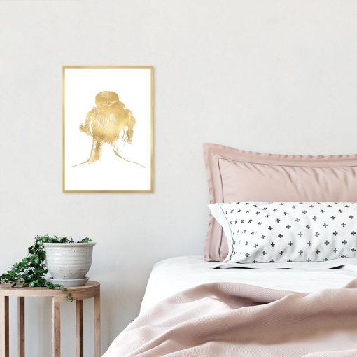 plakat złoty kobieta