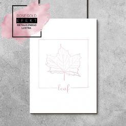Plakat liść