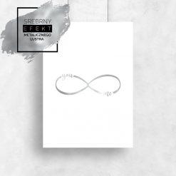 plakat srebrny nieskończoność