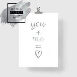 metaliczny plakat love
