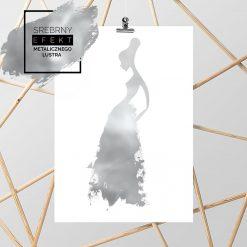srebrny plakat z kobietą