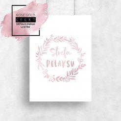 plakat różowo-złoty strefa relaksu