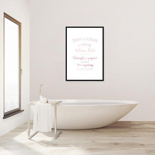 plakat metaliczny do toalety