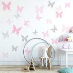naklejka do pokoju dziecka z motylami