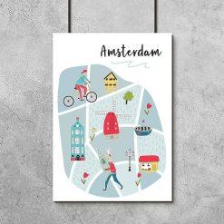 plakat z napisem amsterdam