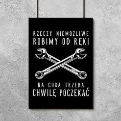 plakat z motywem napisu