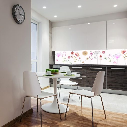 fototapeta z kwiecistym wzorem do kuchni