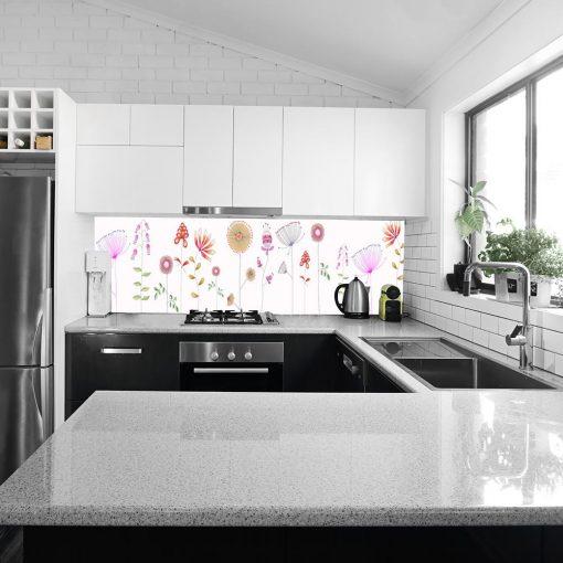 fototapeta przedstawiająca kwiaty do kuchni