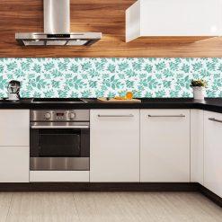 fototapeta z turkusowymi elementami do kuchni
