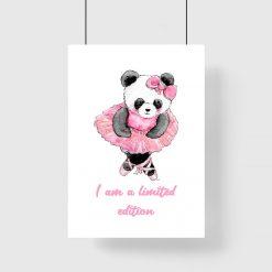 plakat dziecięcy z pandą