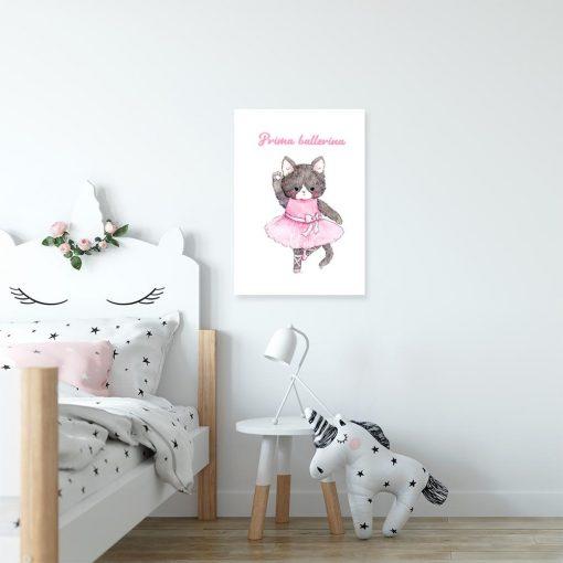 plakat dziecięcy z napisem Prima ballerina