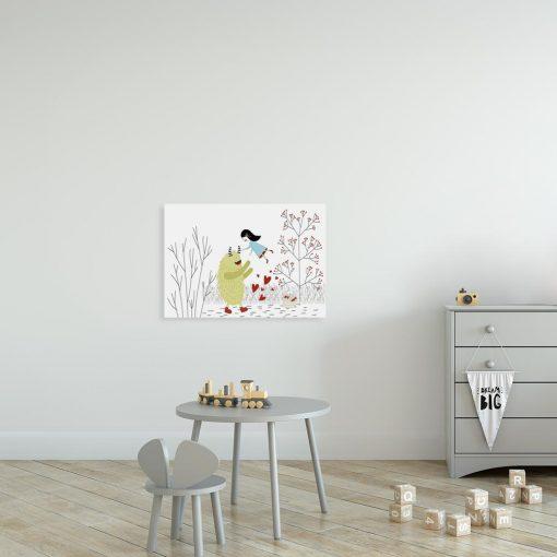 obraz dla dziecka z potworkiem i dziewczynką