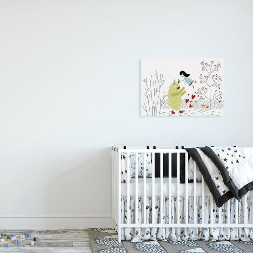 obraz z potworkiem do pokoju dziecka