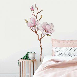 Naklejki na ściany z kwiatami
