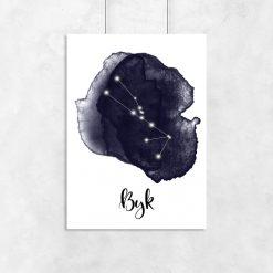plakat z motywem znaku zodiaku byka