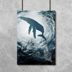 plakat morskie stworzenie