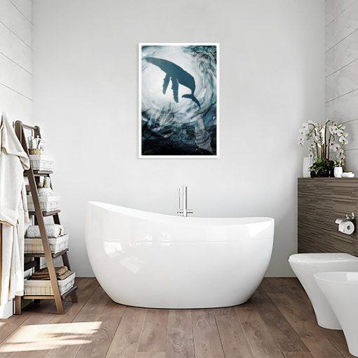 plakat wieloryb