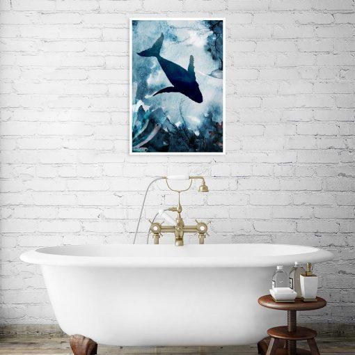 plakat z motywem ryby