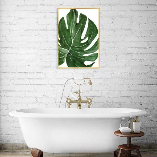 plakat tropikalny liść