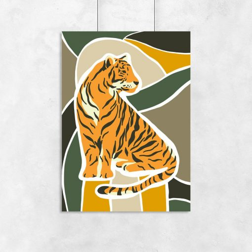 plakat z tygrysem