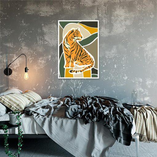 plakat z motywem tygrysa