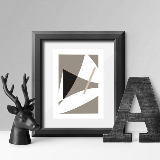 plakat beżowy abstrakcja