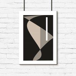 brązowy plakat abstrakcja