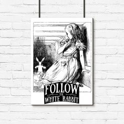 plakat follow the white rabbit