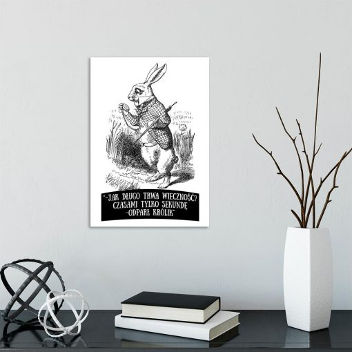 plakat z motywem królika