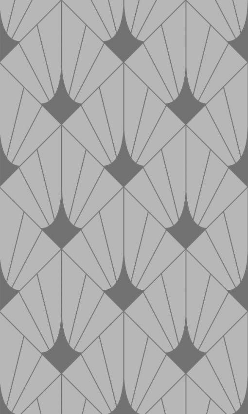 naklejka na szybę z geometrycznym wzorem