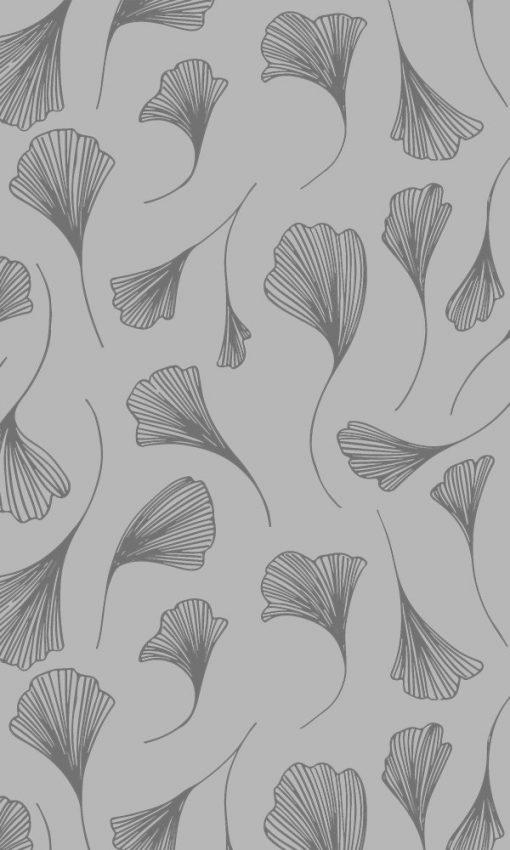 botaniczny wzór na naklejce na okno