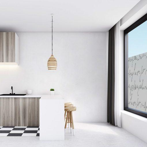 naklejka okienna do kuchni z abstrakcją