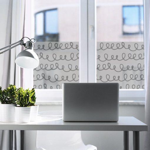 okleina okienna do gabinetu z abstrakcyjnym wzorem