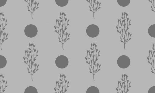 okleina mrożone szkło z kropkami i roślinkami