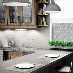 okleina okienna z motywem kół do kuchni