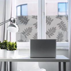 naklejka okienna do gabinetu z botanicznym wzorem
