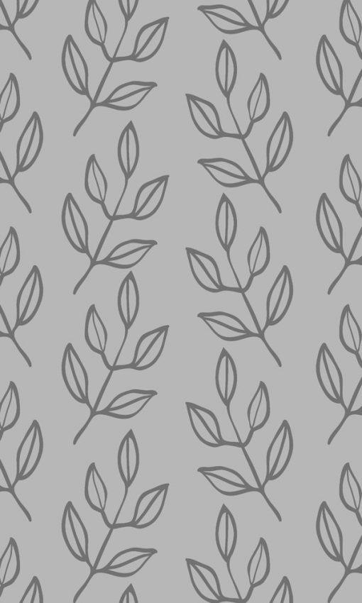 folia na szybę z liściastym wzorem
