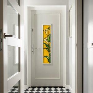 Witraże samoprzylepne na drzwi