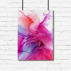różowy plakat z abstrakcją