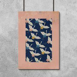 plakat z kolorowymi ptakami